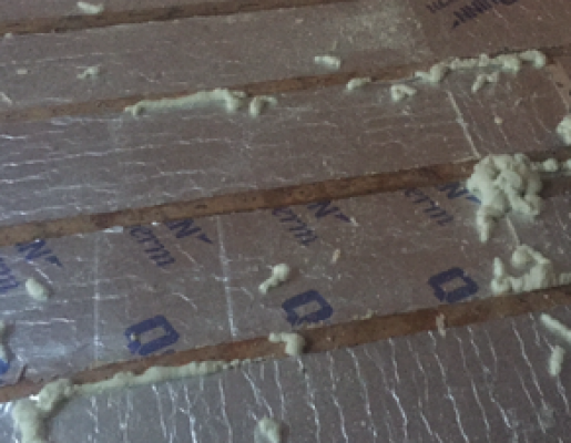 Insulation sealed with Foam  ready for floorboards