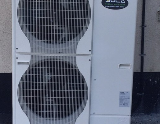 12kW Mitsubishi Electric split air source heat pump
