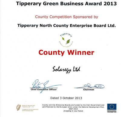 Tipperary Green Business Award